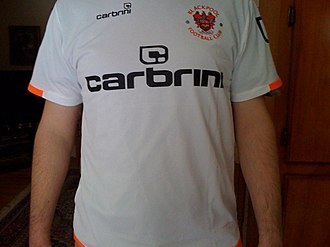 Blackpool F.C. - Blackpool's away shirt for the 2009–10 campaign.