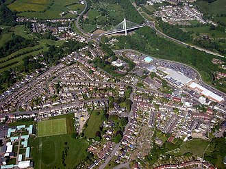 Blackwood, Caerphilly - Image: Blackwood from the air