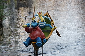 Captain Bluebear - Captain Bluebear and Hein Blöd on the Gera in Erfurt
