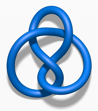 Figure-eight knot (mathematics) - Image: Blue Figure Eight Knot