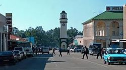 Gweru City Center, the administrative buildings in the foreground.