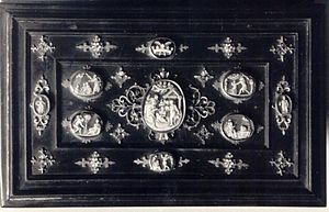 Polish culture during World War II - Queen Bona's 16th century royal casket, looted and destroyed by the Germans in 1939