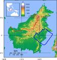 Borneo Topography Kutai basin.png