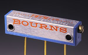 "Bourns, Inc. - The ""TRIMIT"" potentiometer, one of the company's early innovations"