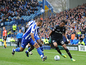 Bradley Diallo - Bradley Diallo playing for Oldham Athletic v Sheffield Wednesday