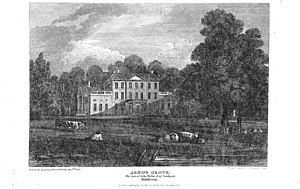 Arnos Grove - Arno's Grove house in 1816, after which the area was named.