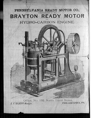 Brayton cycle - Brayton engine 1875