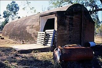 Breddan Aerodrome - Abandoned concrete igloo, Breddan Airfield