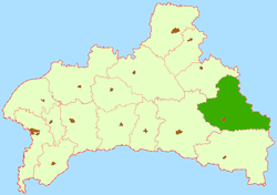 Location of Luņiņecas rajons