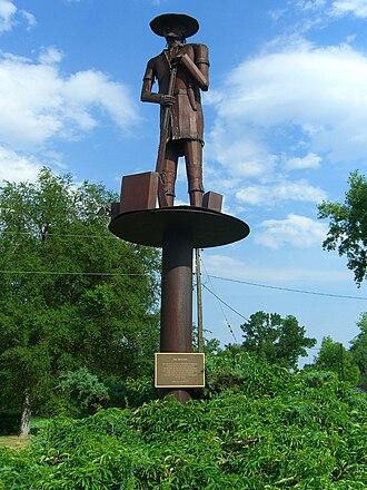 Bridger, Montana - Jim Bridger monument in Bridger, Montana