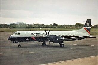 British Aerospace ATP - A British Airways ATP at Dublin Airport in May 1994.