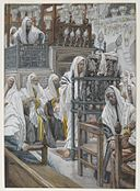 Brooklyn Museum - Jesus Unrolls the Book in the Synagogue (Jésus dans la synagogue déroule le livre) - James Tissot - overall.jpg