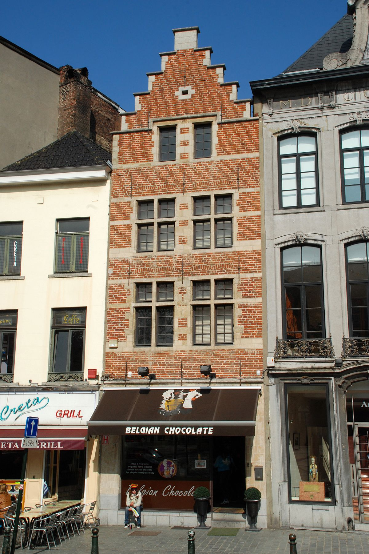 Rue de la montagne bruxelles wikip dia for Maison minimaliste belgique