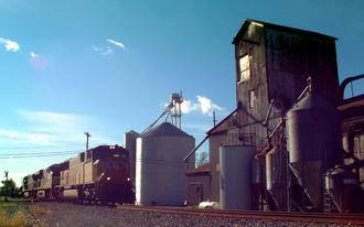 Buck Creek, Indiana - A freight train passes through Buck Creek