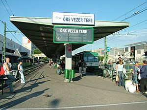 BKV Zrt. - Terminus of Gödöllő commuter railway