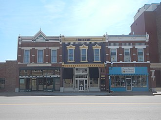 National Register of Historic Places listings in Franklin County, Kansas - Image: Buildings in Ottawa, KS historic district