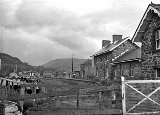 Builth Wells - The remains of Builth Wells railway station in 1967