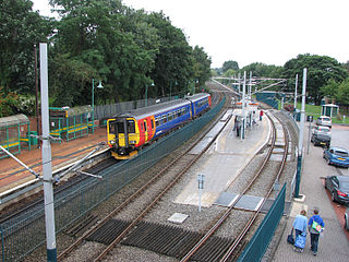 Bulwell station Railway station and tram stop in the city of Nottingham, UK
