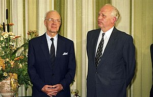 Hans Tietmeyer - Hans Tietmeyer and Helmut Schlesinger