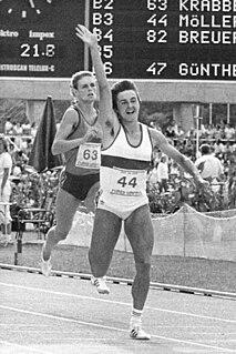 Silke Möller East German sprinter