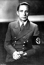 Goebbels, hands clasped