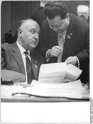 Albert Norden - Norden at the 6th SED Party Congress (1963)