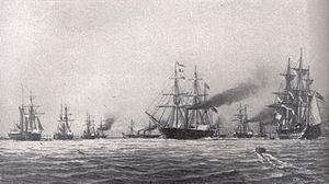 Reichsflotte - Image: Bundesflotte 1849