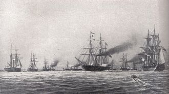 Reichsflotte - The Reichsflotte in 1849.