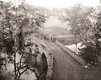 21st Regiment Massachusetts Volunteer Infantry - Image: Burnside Bridge, Antietam Creek, 1862