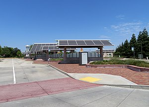 Bus bays at Vacaville Transportation Center, May 2019.JPG