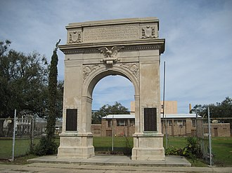 9th Ward of New Orleans - Monument arch commemorating 9th Warders who served in World War I is in the Bywater neighborhood of the 9th Ward