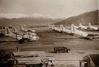 Narsarsuaq Air Base - USAF C-123s at Narsarssuak Air Base Greenland 1956