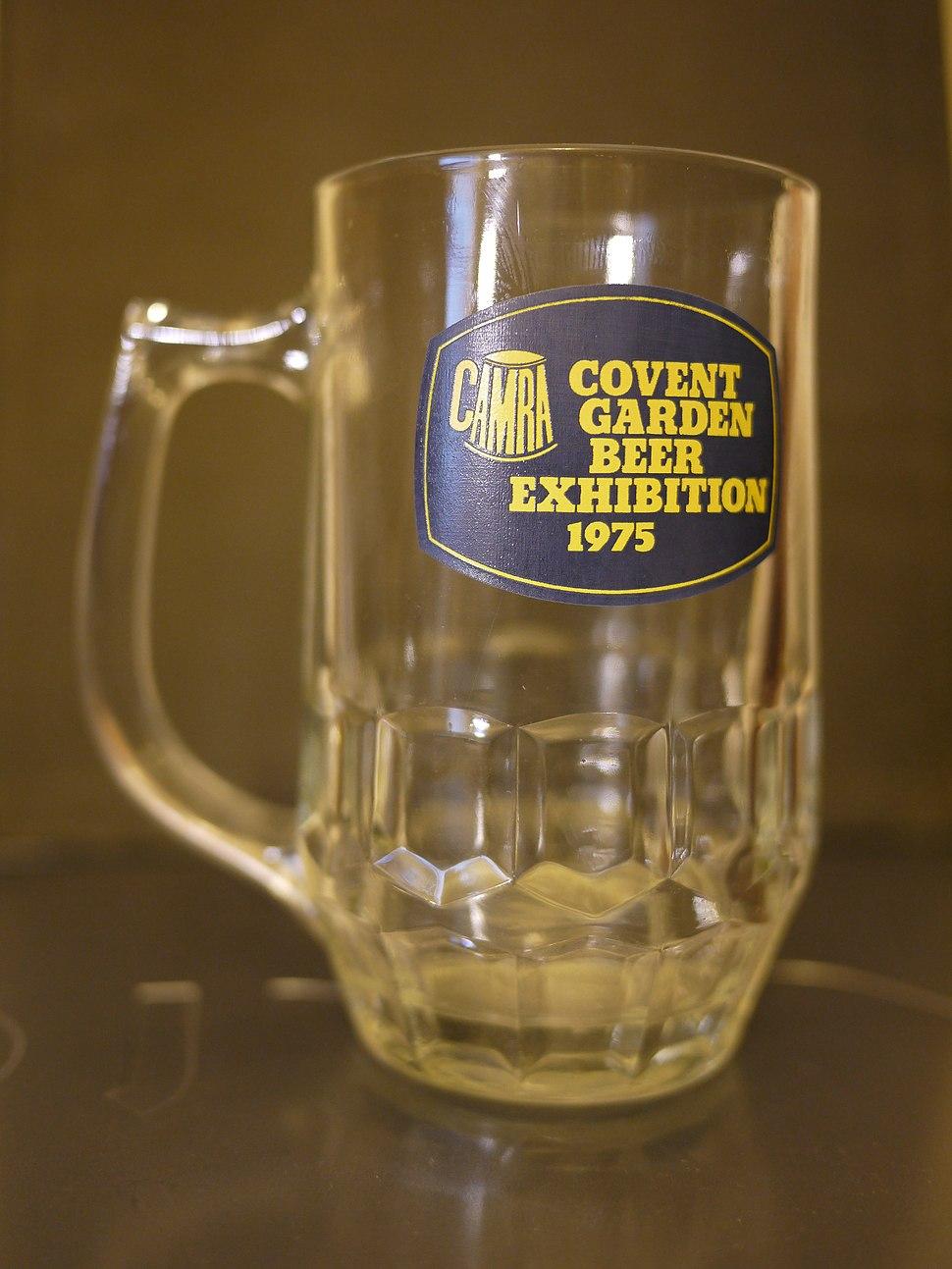 CAMRA Covent Garden Beer Exhibition 1975 half-pint glass