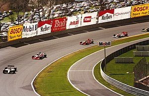 Firestone Indy 225 - Race action during the 1997 event.