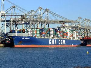 CMA CGM Norma IMO 9299812, Port of Rotterdam, Holland, 06JAN2009 pic1.JPG