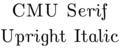 CMU Serif Upright Italic.tiff