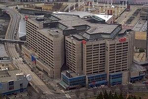 Headquarters - The CNN Center, the world headquarters ofCNN in Atlanta,Georgia,United States.