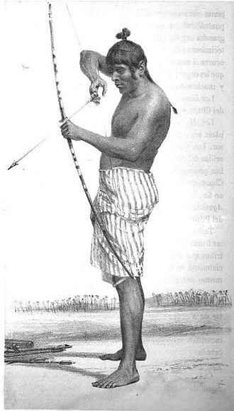 History of Paraguay - A Payagua chief.