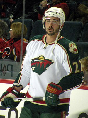 English: Minnesota Wild forward Cal Clutterbuc...