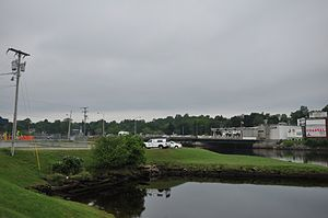 Ferry Point International Bridge - The bridge as seen from Calais