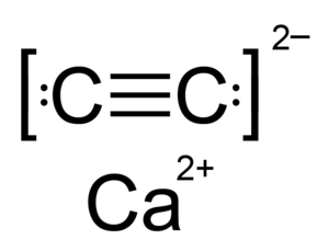 Calcium carbide - Image: Calcium carbide formula