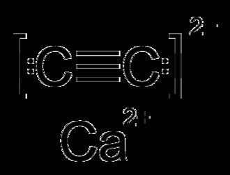 Calcium carbide - Image: Calcium carbide formula