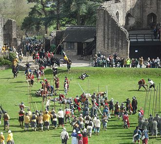 The Sealed Knot (reenactment) - Reenactment of an assault by Parliamentarian forces upon Caldicot Castle