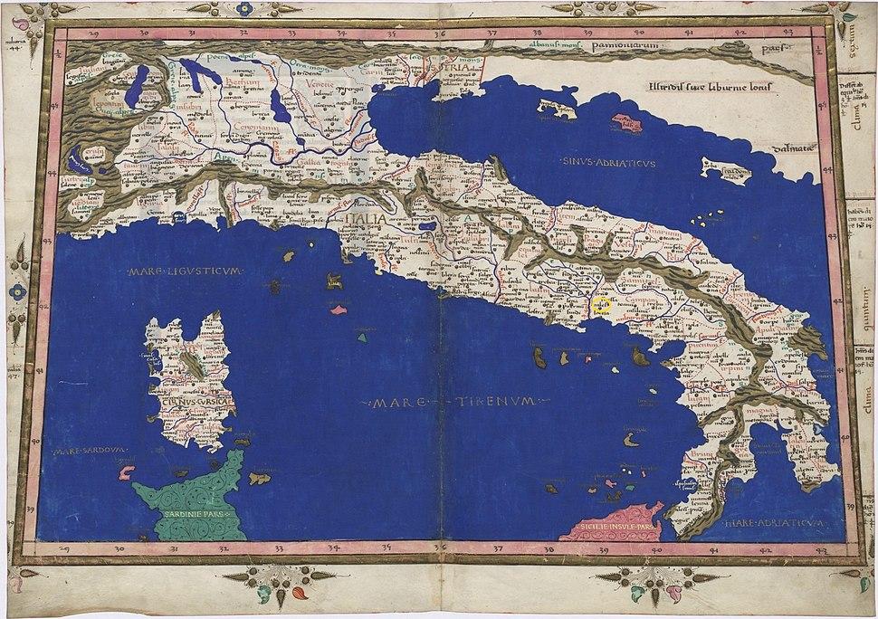 Cales nell'Italia di Tolomeo