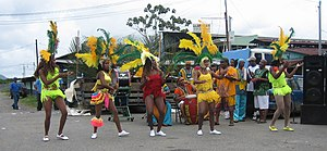 Limón Province - Calypso dancers from Puerto Limón performing in Bribrí, Talamanca