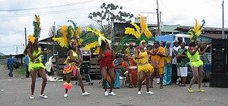Limón Province - Calypso dancers from Puerto Limón performing in Bribrí, Talamanca
