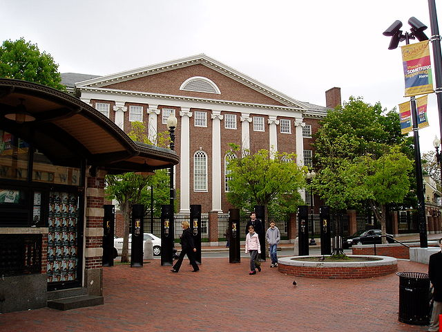 From commons.wikimedia.org: Cambridge Harvard Square {MID-142029}