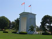 The Peace Arch border