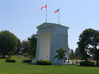 49th parallel north - The Peace Arch border