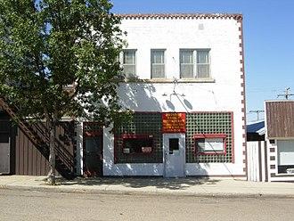 Radville - Radville's historic cafe.